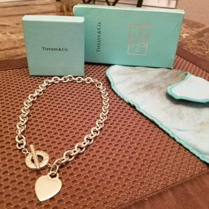 Tiffany & Co. Heart ❤️ and Toggle Necklace